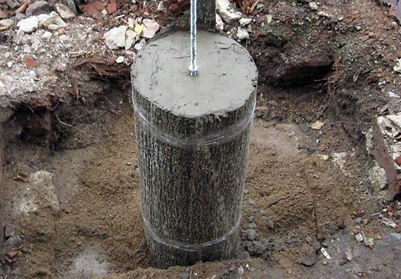 Залитая бетоном асбестоцементная труба