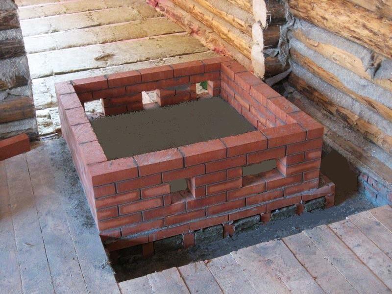Фундамент под печь